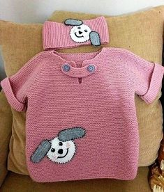 Easy Kids Sweater with Half Sleeve Figure Ornament Knitted as Haraşo … - Crochet Knitting For Kids, Baby Knitting Patterns, Crochet For Kids, Knitting Designs, Knit Crochet, Sweater Patterns, Baby Pullover, Baby Cardigan, Girls Sweaters