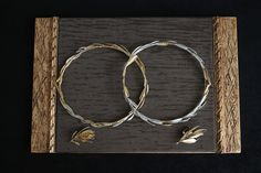 that's really unique. Goldplated or Silverplated olive branch . Unique Wedding Invitations, Unique Weddings, Hoop Earrings, Jewelry, Jewellery Making, Jewelery, Jewlery, Jewels, Jewerly