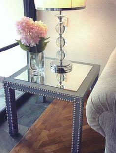 Table avec miroir