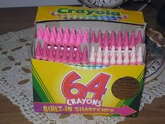 """A while ago I ordered Crayola Custom Crayon Box in """"PINKS"""" only. Pink Crayon, Crayon Box, Pink Love, Pretty In Pink, Pink And Green, Pinky Swear, I Believe In Pink, Everything Pink, Color Rosa"""