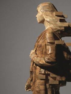 Les sculptures de bois pixellisées de Hsu Tung Han 2Tout2Rien