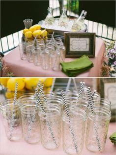 Lemonade Cocktail | Peach and Mint Bridesmaid Luncheon | Wedding Chicks