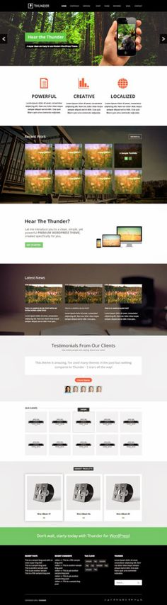 Thunder Mega Website PSD Template