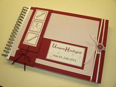 Personalisiertes Gästebuch & Fotoalbum z Hochzeit