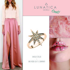 #lunatica #lunaticacool #lunaticagioielli #cool #gioielli #star #starburst #trendy #fresh #fashion #style #mood #handmade #madeinitaly #italy #roma #rome #made #with #love #pink #pinky #rose #pinkgold #precious #18kt #gold #diamonds #wantit #young #girls #glamour #inspiration