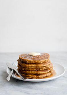Whole Grain Gluten-Free Pumpkin Pancakes