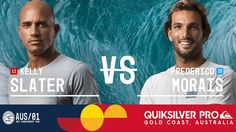 Kelly Slater vs. Frederico Morais - Quiksilver Pro Gold Coast 2017 Round...