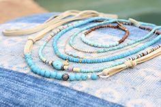 Natuurlijke Arizona Turquoise en sandelhout armband