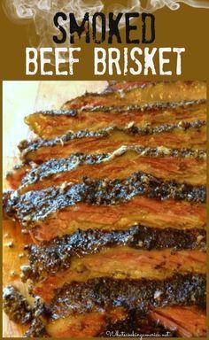 Texas - Smoked Brisket - How to Smoke A Brisket - History of Barbeque - History of Texas Beef Brisket Beef Brisket Recipes, Smoked Beef Brisket, Smoked Meat Recipes, Grilling Recipes, Seafood Recipes, Cooking Brisket, Brisket Meat, Smoked Ribs, Gastronomia