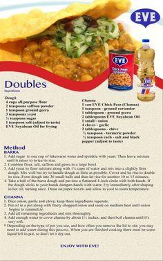 How to make trini Doubles Trinidadian Recipes, Guyanese Recipes, Jamaican Recipes, Indian Food Recipes, Vegetarian Recipes, Cooking Recipes, Ethnic Recipes, Carribean Food, Arroz Con Pollo