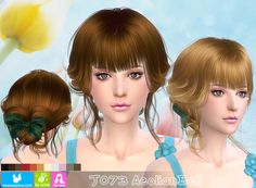 Emma's Simposium: Free Sims 4 Hair Pack #022 by Newsea Gifted/ Donat...