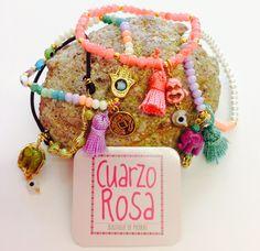 Elephant, Buddha, Tassels and sweet color bracelets * Pulseras de Elefante, Buda, motas y colores tiernos