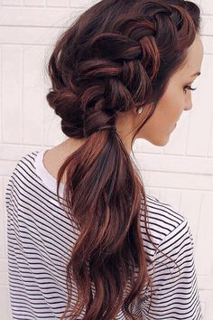 Dutch Braid Ponytail on @hairby.alyssa