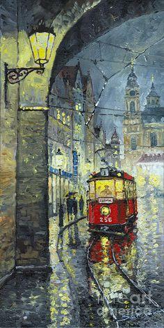Praha Red Tram Mostecka  - Yuriy Shevchuk