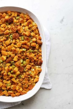 Stuffing Topped Baked Mac & Cheese Macaroni Casserole, Baked Macaroni, Stuffing Ingredients, Whipped Feta, Holiday Side Dishes, Roasted Sweet Potatoes, Mashed Potatoes, Thanksgiving Recipes, Holiday Recipes