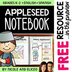 This downloads in English plus a FREE Spanish version. It has a variety of resources for your Johnny Appleseed unit or lessons. It includes tabs,…