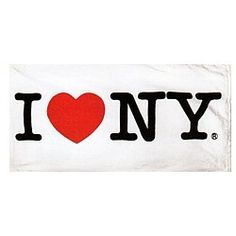 """CitySouvenirs.com - I Love NY Beach Towel - White, $17.99 (http://www.citysouvenirs.com/i-love-ny-beach-towel-white/) White I Love NY Towel  After taking a shower or a dip at your favorite beach or pool, dry yourself in style while declaring """"I Love NY!"""" Soft to the touch and finely woven, they are luxurious enough to use for both children and adults.    Measures 5' x 28½"""" and made of 100% cotton   Support New York City - All of our I Love NY products are fully licensed."""