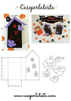 Tic Tac Halloween Wrappers free template