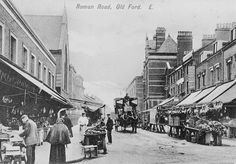 Roman road and Green street Old Ford Victorian London, Vintage London, Old London, Old Pictures, Old Photos, Roman Roads, East End London, Bethnal Green, London History