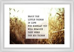 The Little Things Framed Print, White, Classic, Cream, White, Single piece, 20 x 30 inches, White