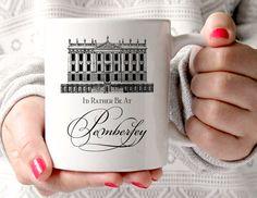 Jane Austen, Mug, Pride & Prejudice Mug, Id Rather Be At Pemberley, Book Mug, UK  Taking inspiration from Jane Austens novel Pride and Prejudice