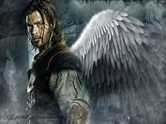 Christ Hemsworth (from Snow White and the Huntsman) with wings. yeah. :D