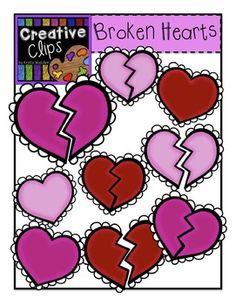 FREE broken hearts clipart from Creative Clips! Enjoy this Valentine treat from me!