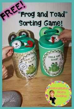 FREE! Long and Short Vowel Sorts. Create frog and toad containers, or use the sorting mats. Includes long and short vowel cards with pictures AND words without pictures.