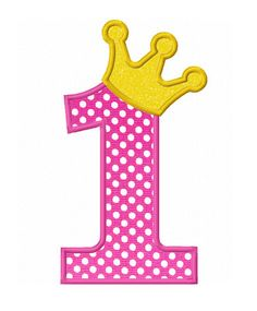 Instant Download Number 1 with Crown Applique Machine Embroidery Design NO:1410 by JoyousEmbroidery on Etsy https://www.etsy.com/listing/162970377/instant-download-number-1-with-crown