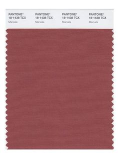 Pantone Announces 9 Other Colors To Wear In 2015 #refinery29  http://www.refinery29.com/2015/02/82163/pantone-fall-colors#slide-5  Marsala ...