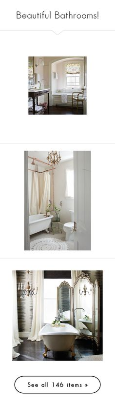 """Beautiful Bathrooms!"" by jewelsinthecrown ❤ liked on Polyvore featuring home, home decor, mirrors, tri fold mirror, silver leaf mirror, beveled mirror, frontgate, 3 fold mirror, bed & bath and bath"
