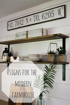 I love this longitude latitude wall sign for the home! Would go perfectly with other modern farmhouse decor #aff