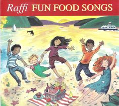 Raffi's FUN FOOD SONGS (Rounder Records) - A collection of 15 songs that encourage children to have fun with food, featuring beloved classics such as Peanut Butter Sandwich, Bananaphone, and Going On a Picnic, as well as traditional tunes like Down By The Bay and Day O.  http://amzn.com/B00FAOCFDQ