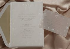 Set #V8061TP from our Value Collection features a translucent overlay with pearlescent embossing