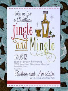 25 Christmas party invitation  Jingle and by paigeburtondesigns, $50.00