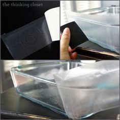 How to apply the stencil to your glassware for a glass etching project. Detailed tutorial from thinkingcloset.com
