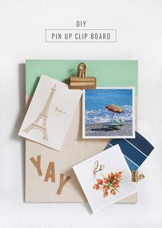 DIY Pin up Clipboard - Sugar & Cloth - Houston Blogger - DIY - Home Decor