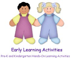 Early Learning Activites - Free Pre-K and Kindergarten Hands-On Learning Activities