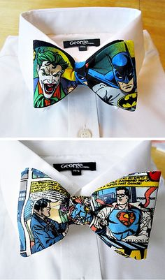 custom superhero/comic bow ties