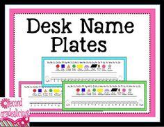 Bright Colored Desk Name Plates 2nd Grade Pinterest