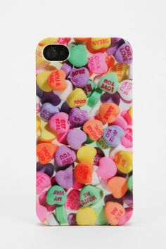 Fun Stuff Candy Hearts iPhone 4/4s Case #urbanoutfitters