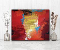 "Red Abstract Art ""Allure"" giclee print by Atlanta Artist LaTanya Renee"
