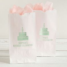 When you finish customizing these personalized birthday party goodie bags, they won't just be your favor bags-they'll be your favorite bags! Fill them with candy bars of different colors to match your unicorn theme party.