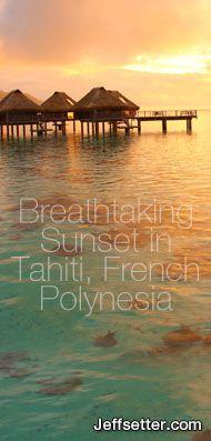 Breathtaking Sunset in Tahiti, French Polynesia