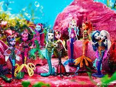Great Scarrier Reef Monster High Dolls - I have these. Frankenstein's Monster, Monster High Dolls, Monster High School, Mattel, Famous Monsters, Black Lagoon, Kawaii, Friends Day, The Little Mermaid