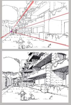 Error The photo The Effective Pictures We Offer You About Architecture perspective lumion Perspective Drawing Lessons, Perspective Sketch, Point Perspective, Drawing Techniques, Drawing Tips, Drawing Reference, Drawing Drawing, Comic Tutorial, City Drawing