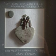 Family Pebble Pictures, Stone Pictures, Art Pictures, Stone Crafts, Rock Crafts, Arts And Crafts, Sea Crafts, Stones Throw, Rock And Pebbles