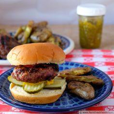 Green Tomato Bacon Jam Burgers   Farm Fresh Feasts