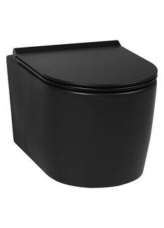 Durf jij voor een zwart toilet te gaan? Dit mat zwarte hangtoilet van Saqu Trend is een echte eyecatcher. Geef je toiletruimte net dat beetje extra lef door een zwart toilet te kiezen. Maak de look compleet met mat zwarte toiletaccessoires. #toiletinspiratie #badkamerinspiratie #toilet #matzwart #saqu #zwartewc Small Attic Bathroom, Small Toilet Room, Beautiful Houses Inside, Toilet Mat, Black Toilet, Toilet Accessories, House Inside, Bathroom Toilets, Bathroom Inspiration