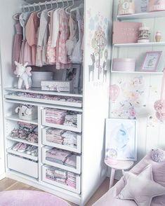 28 Trendy Ideas for baby girl room closet Baby Nursery Closet, Baby Bedroom, Baby Room Decor, Girls Bedroom, Girl Nursery, Room Baby, Girl Rooms, Playroom Decor, Nursery Ideas